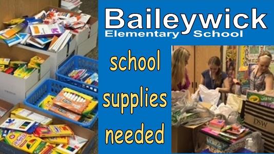 Baileywick School Supplies